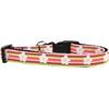 Mirage Pet Products Striped Daisy Nylon Ribbon Dog Collar Medium Narrow