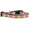 Mirage Pet Products Striped Daisy Nylon Ribbon Dog Collar Sm