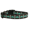 Mirage Pet Products Aqua Moustaches Ribbon Dog Collars Large