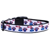 Mirage Pet Products American Owls Ribbon Dog Collars Large