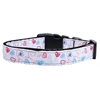 Mirage Pet Products Patriotic Crazy Hearts Nylon Ribbon Dog Collars Medium