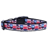 Mirage Pet Products Proud Owls Nylon Ribbon Dog Collars Large