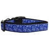 Mirage Pet Products Blue and White Swirly Nylon Ribbon Dog Collar XL