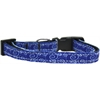 Mirage Pet Products Blue and White Swirly Nylon Ribbon Dog Collar Sm