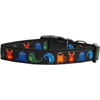 Mirage Pet Products Black Monsters Nylon Collar Medium