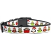 Mirage Pet Products Santa Owls Ribbon Dog Collars Medium