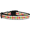 Mirage Pet Products Colorful Argyle Ribbon Dog Collars Medium