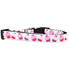 Mirage Pet Products Pink and Purple Cupcakes Nylon Ribbon Dog Collar Medium Narrow