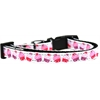 Mirage Pet Products Pink and Purple Cupcakes Nylon Ribbon Dog Collar XS