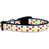 Mirage Pet Products White Multi-Dot Dog Collar Medium