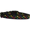 Mirage Pet Products Black Multi-Dot Dog Collar Large