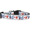 Mirage Pet Products Anchors Away Nylon Ribbon Dog Collar XL