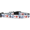 Mirage Pet Products Anchors Away Nylon Ribbon Dog Collar Medium Narrow