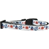 Mirage Pet Products Anchors Away Nylon Ribbon Dog Collar XS