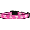 Mirage Pet Products Pink Skulls Dog Collar Large