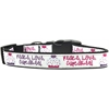 Mirage Pet Products Peace Love Cupcakes Dog Collar Large