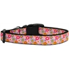 Mirage Pet Products Pink Spring Flowers Dog Collar Medium