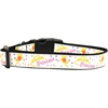 Mirage Pet Products Princess Nylon Ribbon Dog Collar Large