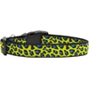 Mirage Pet Products Blue and Yellow Leopard Nylon Dog Collars Medium