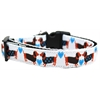Mirage Pet Products Doxie Love Nylon Ribbon Dog Collar XL