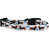 Mirage Pet Products Doxie Love Nylon Ribbon Dog Collar Sm