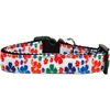 Mirage Pet Products Multi-Colored Hawaiian Hibiscus Nylon Ribbon Dog Collar XL