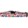 Mirage Pet Products Multi-Colored Hawaiian Hibiscus Nylon Ribbon Dog Collar Medium Narrow