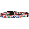 Mirage Pet Products Multi-Colored Hawaiian Hibiscus Nylon Ribbon Dog Collar Sm