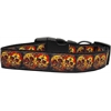 Mirage Pet Products Skull Crossed Lovers Nylon Dog Collars Medium