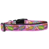 Mirage Pet Products Superhero Sound Effects Pink Nylon Dog Collar Large