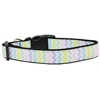 Mirage Pet Products Spring Chevron Nylon Dog Collar Medium