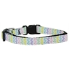 Mirage Pet Products Spring Chevron Nylon Dog Collar XS