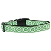 Mirage Pet Products Reduce Paw Print Nylon Dog Collar Medium