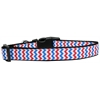 Mirage Pet Products Patriotic Chevrons Nylon Dog Collar Medium