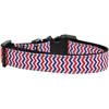 Mirage Pet Products Patriotic Chevrons Nylon Ribbon Dog Collar XL