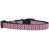 Mirage Pet Products Patriotic Chevrons Nylon Ribbon Dog Collar Medium Narrow