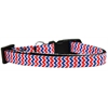 Mirage Pet Products Patriotic Chevrons Nylon Ribbon Dog Collar Sm