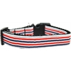 Mirage Pet Products Patriotic Stripes Nylon Ribbon Dog Collar XL