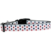 Mirage Pet Products Patriotic Polka Dots Nylon Dog Collar Medium