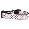 Mirage Pet Products Patriotic Polka Dots Nylon Ribbon Dog Collar XL