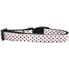 Mirage Pet Products Patriotic Polka Dots Nylon Ribbon Dog Collar Medium Narrow