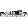 Mirage Pet Products Patriotic Polka Dots Nylon Ribbon Dog Collar Sm