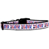 Mirage Pet Products Red, White, and Cute! Nylon Dog Collar Medium