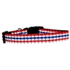 Mirage Pet Products Stars in Stripes Nylon Dog Collar Large
