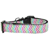 Mirage Pet Products Summer Chevrons Nylon Ribbon Dog Collar XL