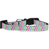 Mirage Pet Products Summer Chevrons Nylon Ribbon Dog Collar XS