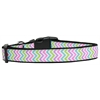 Mirage Pet Products Summer Chevrons Nylon Dog Collar Large
