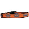 Mirage Pet Products Blue Crabs Nylon Dog Collar Large