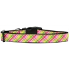 Mirage Pet Products Lemondrop Plaid Nylon Dog Collar Medium