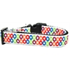 Mirage Pet Products Bright Diamonds Nylon Ribbon Dog Collar XL